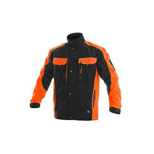 Pánska montérková blúza CXS s reflexnými prvkami, čierna/oranžová