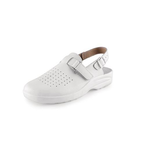 Zdravotnícke kožené sandále CXS Mika, dámske, biele