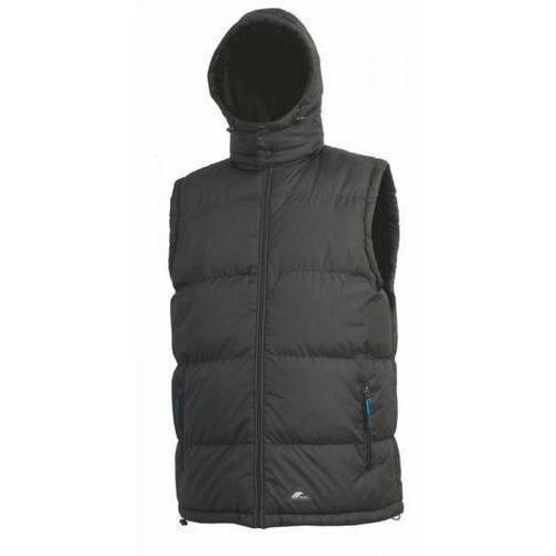 Pánska zimná vesta CXS Pierre s kapucňou a reflexnými prvkami, čierna