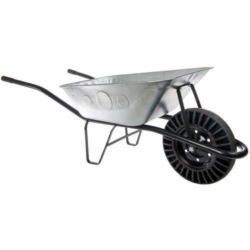 Stavebný fúrik s plným kolesom, kovový, objem 80 l