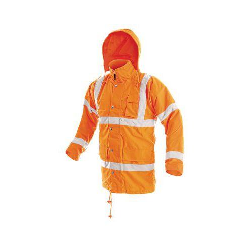 Pánska zimná nepremokavá reflexná bunda CXS, oranžová