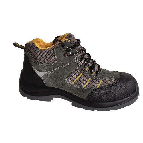 Pracovné semišové členkové topánky Manutan s oceľovou špicou, zelené/sivé