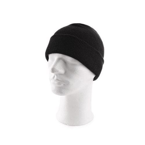 Pletená čiapka akrylová čierna