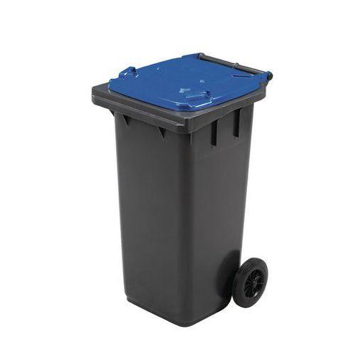 Plastové vonkajšie nádoby na odpad Manutan na triedený odpad, objem 120 l