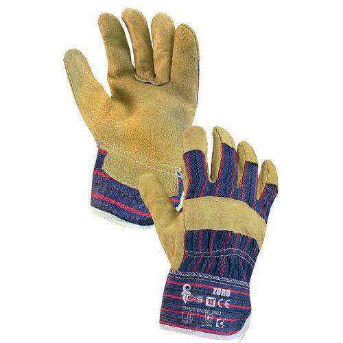 Kožené rukavice CXS, žlté/modré