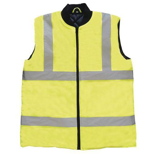 Zimná reflexná vesta Manutan, žltá
