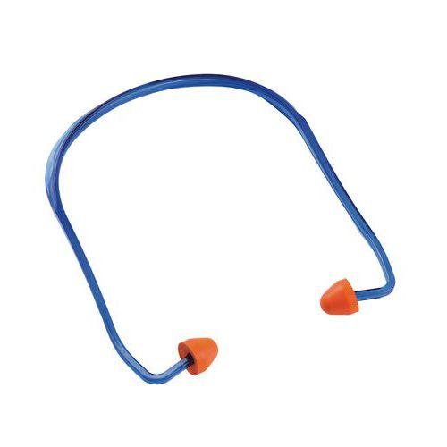 Zátky do uší Manutan s páskou, útlm 24 dB, 100 ks