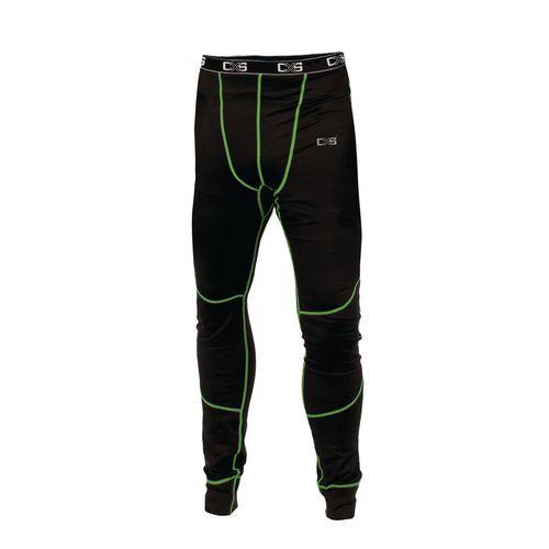 Pánske termo nohavice CXS, čierne/zelené