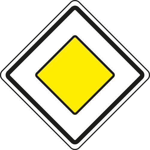 104ee1e02 Dopravná značka Hlavná pozemná komunikácia (P2)