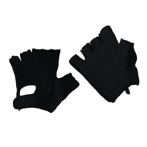 Bavlnené rukavice Manutan s terčíkmi, čierne