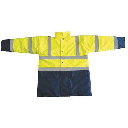 Reflexná bunda Manutan, žltá/modrá