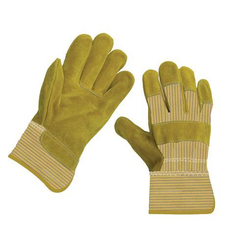 Kožené rukavice Manutan, žlté
