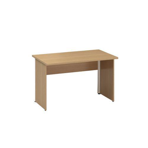 Kancelárske stoly Alfa 100 so sivým podnožím, 120 x 70 x 73,5 cm, rovné vyhotovenie