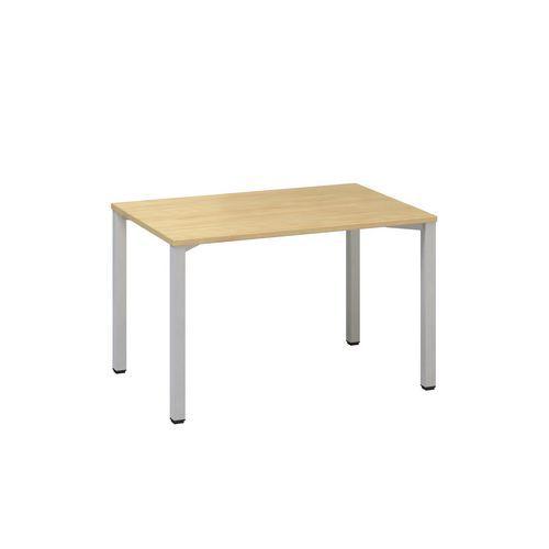 Konferenčné stoly Alfa 420 so sivým podnožím, 120 x 80 x 74,2 cm, rovné vyhotovenie