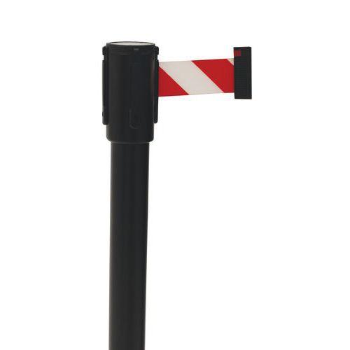 Vymedzovací stĺpik s pásom Manutan Lesly, 5 m