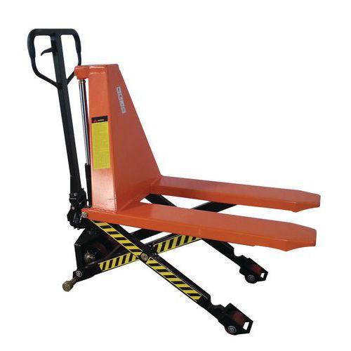 Nožnicový paletový vozík, do 1 000 kg, výška zdvihu 500 mm