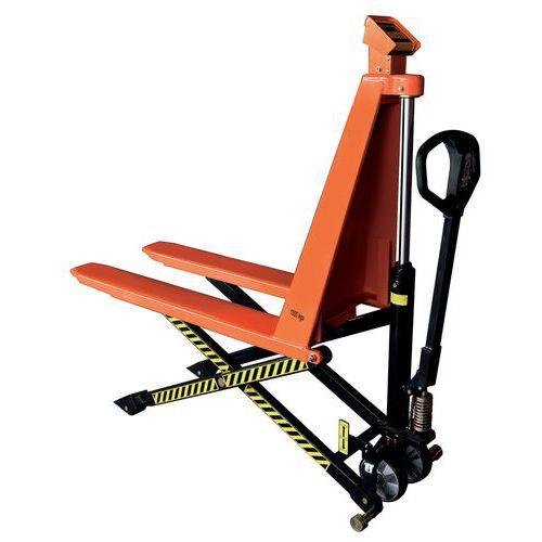 Nožnicový paletový vozík, do 1 000 kg, výška zdvihu 800 mm
