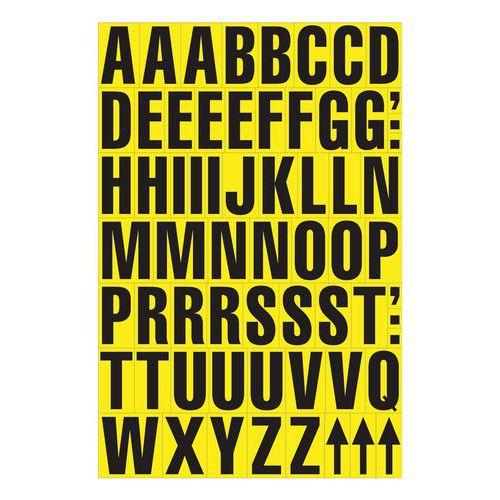 Magnetické písmená Manutan, žlté