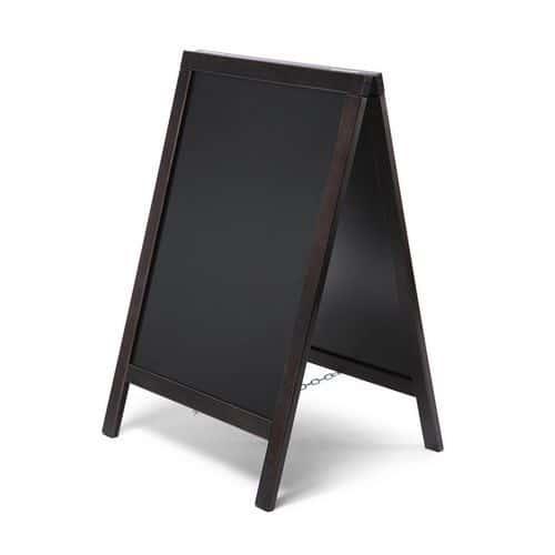 Reklamná kriedová tabuľa A, čierna