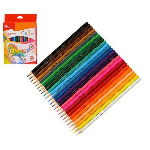Pastelky DELI trojhranné ColoRun 24 barev