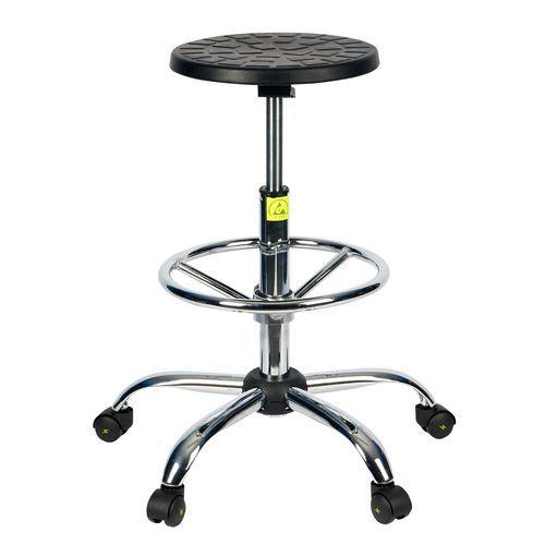Antistatická ESD pracovná stolička Ned s kolieskami