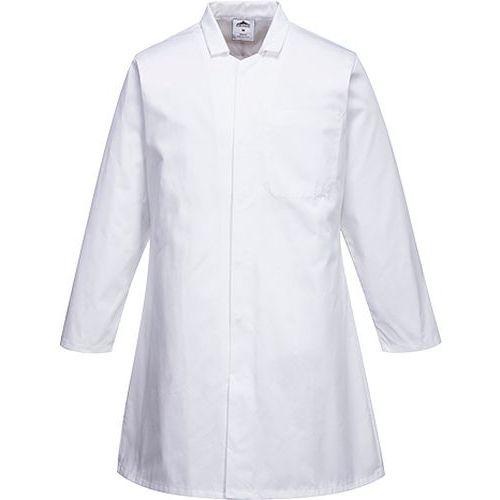 Plášť potravinársky pánsky s jedným vreckom, biela
