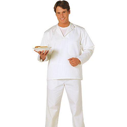 Košeľa pekárska s dlhým rukávom, biela