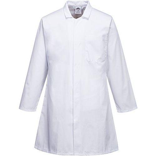 Plášť potravinársky pánsky s tromi vreckami, biela