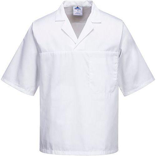 Košeľa pekárska s krátkym rukávom, biela