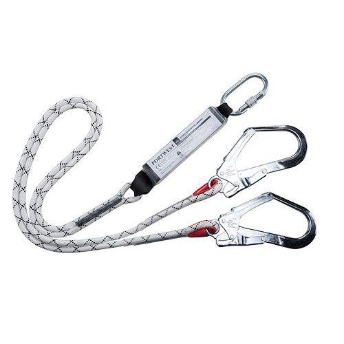 Dvojité lano Kernmantle s tlmičom, biela