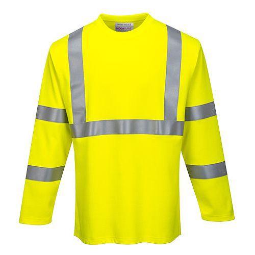 FR Hi-Vis Tričko s dlhým rukávom, žltá