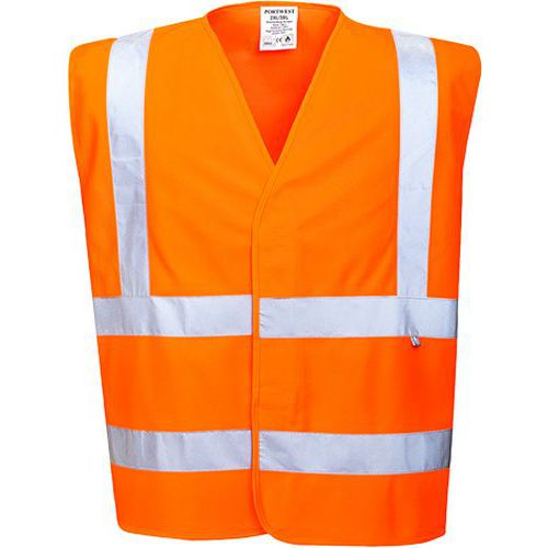 Nehorľavá reflexná vesta, oranžová