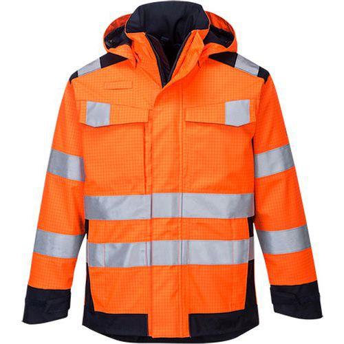 Modaflame Rain Multi Norm Arc bunda, modrá/oranžová
