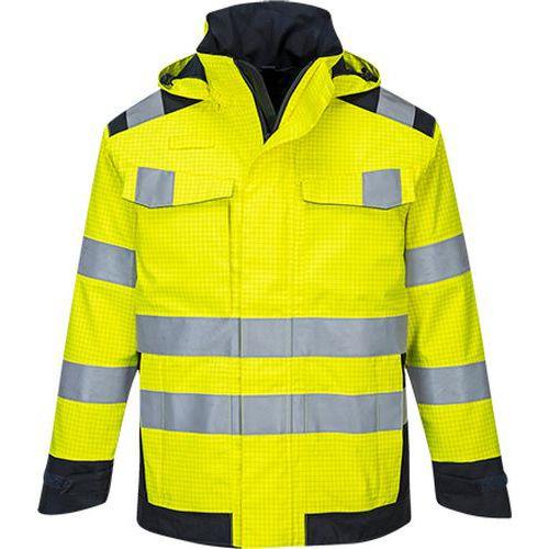 Modaflame Rain Multi Norm Arc bunda, modrá/žltá