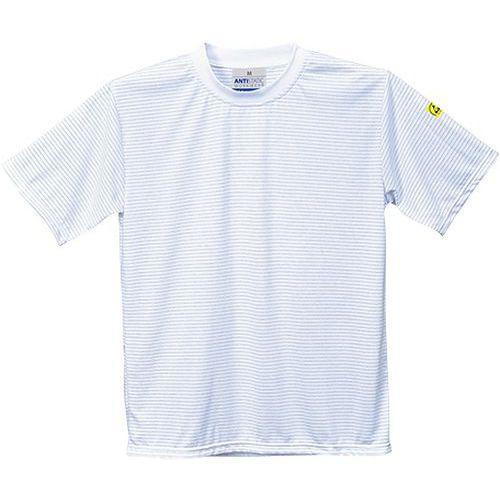 Tričko s krátkym rukávom Anti-Static ESD, biela
