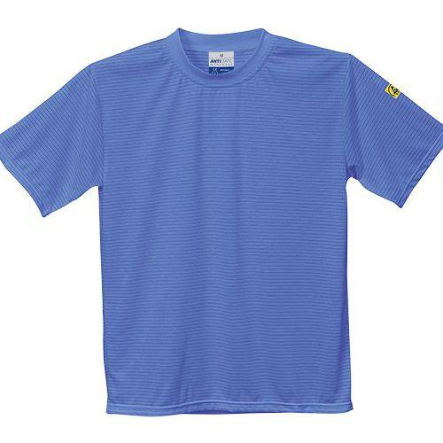 Tričko s krátkym rukávom Anti-Static ESD, modrá
