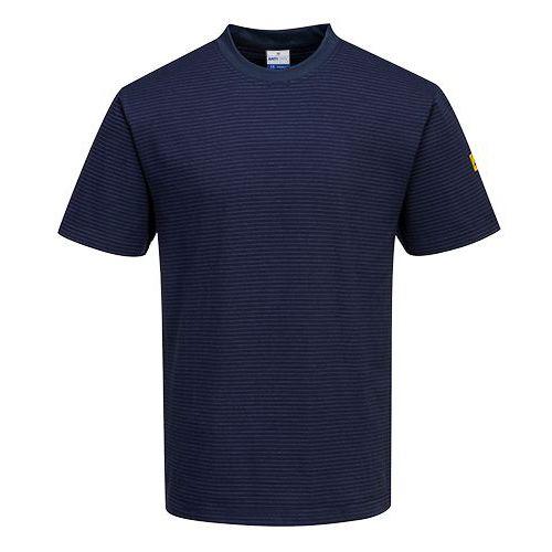 Tričko s krátkym rukávom Anti-Static ESD, tmavo modrá