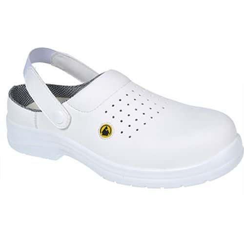 Sandále Portwest Compositelite ESD Clog SB AE, biela