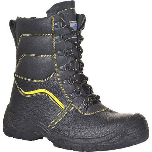 Topánky s kožušinou Steelite Protector S3 CI, čierna