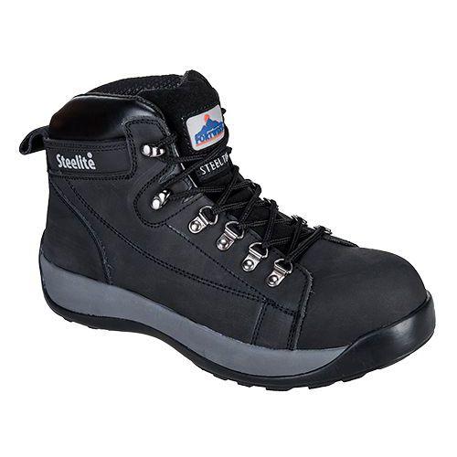 Topánky Steelite Mid Cut Nubuck SB HRO, čierna
