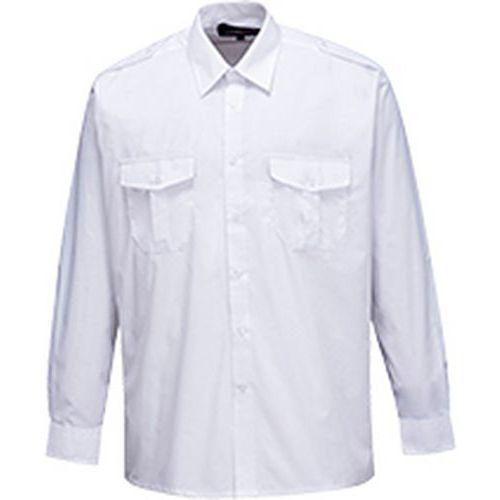 Košeľa pre pilotov s dlhým rukávom, biela