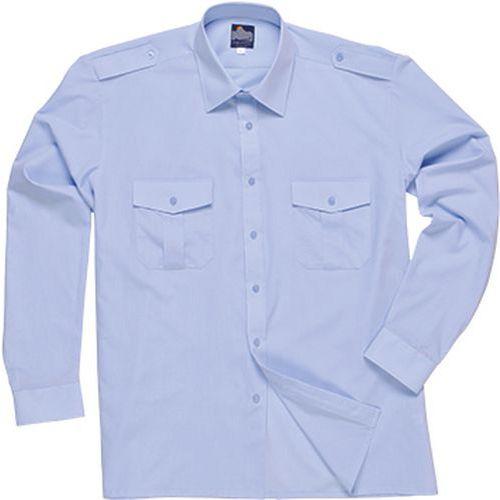 Košeľa pre pilotov s dlhým rukávom, modrá