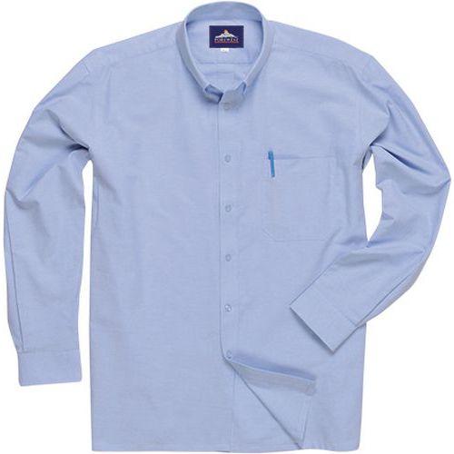 Košela Oxford easy care s dlhým rukávom, modrá
