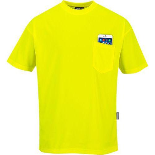 Day-Vis tričko s krátkym rukávom, žltá