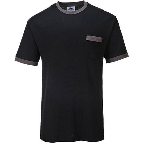 Tričko Portwest Texo Contrast, čierna