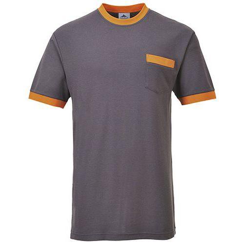 Tričko Portwest Texo Contrast, sivá
