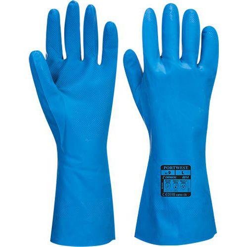 Potravinárska nitrilová rukavica, modrá
