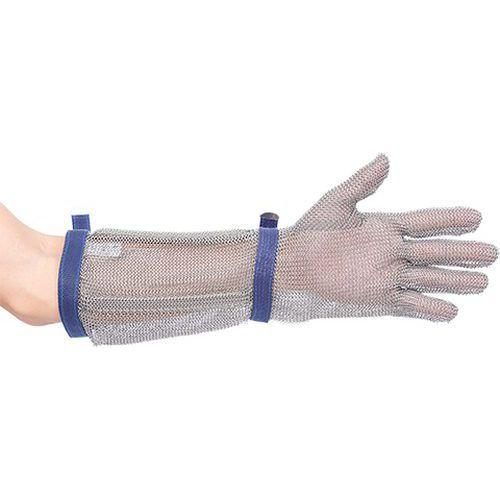 Reťazové rukavice 45cm, striebro