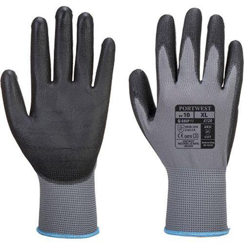 Rukavice PU Palm, sivá/čierna