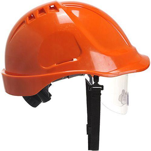 Bezpečnostná prilba Endurance Visor, oranžová